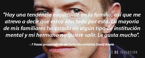 7 Frases Provocadoras Del Fallecido Cantante David Bowie